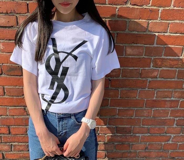 美麗喵。現貨。正韓 YS薄料短袖棉質T恤