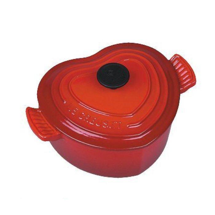 法國 LE CREUSET LC愛心鍋 鑄鐵鍋 琺瑯鑄鐵鍋 櫻桃紅
