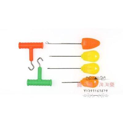 6件套 歐釣鯉釣魚餌針配件穿餌針漁具套裝 釣魚鉤針 拉線器 魚餌針鉤針漁具配件Rigging Tool#雜七雜八淘淘樂