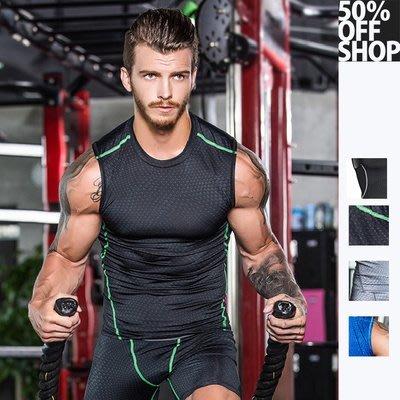 50%OFF SHOP【AD021835C】健身服男籃球跑步訓練服彈力壓縮速幹衣運動緊身衣背心