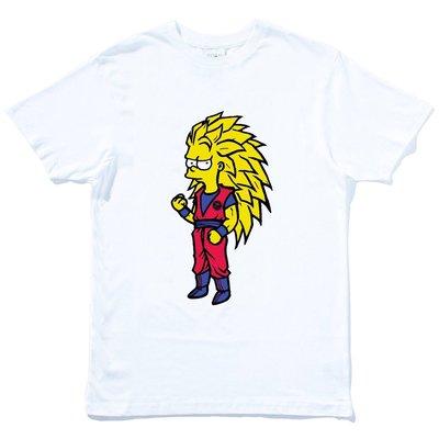 Bart Seven Star 短袖T恤 白色 趣味玩翻卡通街頭插畫塗鴉潮流時尚平價t七龍珠
