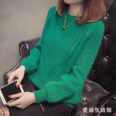 中大尺碼針織衫 秋冬季新款時尚毛衣女套頭短款寬鬆打底衫韓版百搭 AW7949