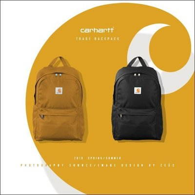 *ZEUS*Carhartt 2018SS Trade Backpack/美國工裝品牌x防潑水布面x耐用型x運動後背包