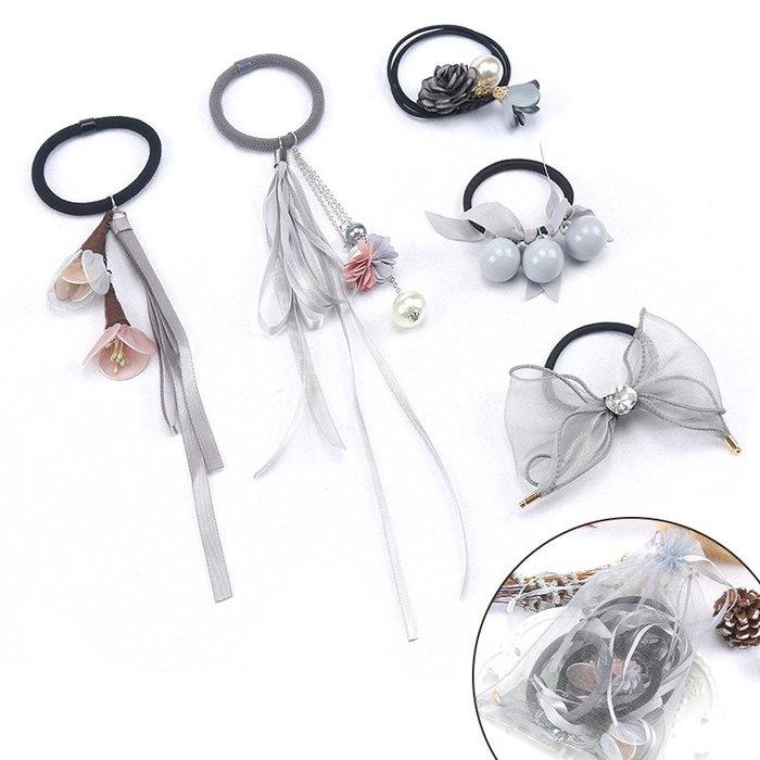 「免運」韓國髮圈小清新頭繩髮帶簡約長飄帶緞帶綁頭髮的皮筋個性髮繩髮飾 『菲菲時尚館』