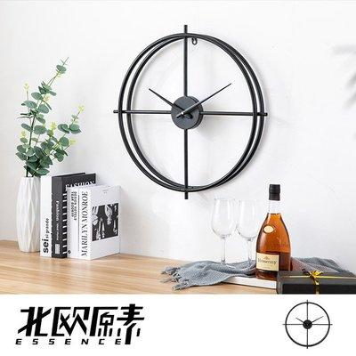 【北歐原素】極簡雙環造型掛鐘 時鐘 鐵藝 創意 簡約 北歐風(LS0110)-YKS 非