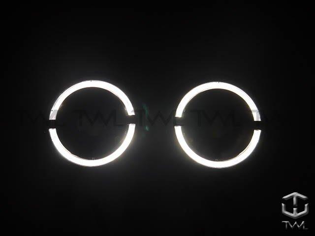 《※台灣之光※》BENZ賓士W463類W464樣式前期96 97 98 99 00 01 02年LED黑底光圈投射大燈組