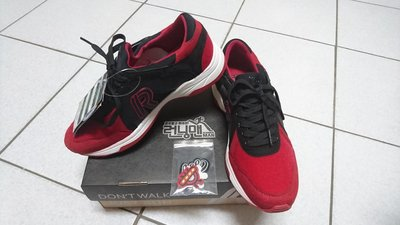全新 韓國Running Man 官方正版 只有一雙 休閒時尚拚色運動鞋 紅黑色 24號