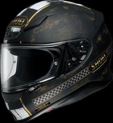 《鼎鴻》 SHOEI全罩式花色安全帽 Z-7 TERMINUS  TC-9 黑/金  消光色