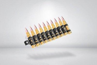 台南 武星級 7.62 x 51 裝飾子彈 + 彈鍊 ( 模型彈卡賓槍假槍假彈道具彈57步槍M14機槍M60 M134