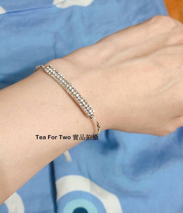 韓國正品(現貨)~銀色鑲鑽手環,好帶可調整大小