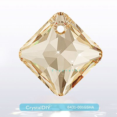 施華洛世奇水晶公主切割吊墜#6431燦幻金 Crystal Golden Shadow16mm手作素材手作吊飾