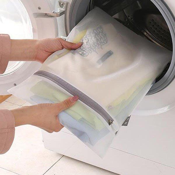 灰白簡約防變形網狀密孔型洗衣袋(大號)【JI2316】《Jami Honey》