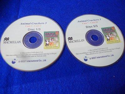 【彩虹小館】W26兒童CD~Animal Crackers 3(CD1+CD3)~MACMILLAN