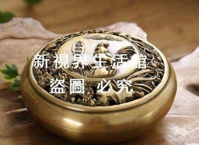 【新視界生活館】《金雞報喜》香爐純銅大號銅爐創意香薰爐檀香盤香爐家用