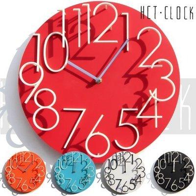 掛鐘/時鐘/擺鐘 圓款立體數字時鐘 顯示光陰刻度 靜音走針 ☆匠子工坊☆【UC0024】