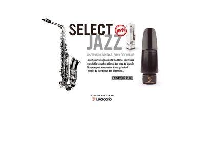 【現代樂器】現貨免運!D'Addario Select Jazz Mouthpiece Alto Sax中音薩克斯風7M爵士吹嘴