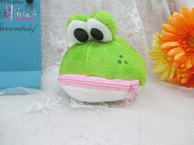 ☆[Hankaro]☆歐美流行爆款青蛙玩偶造型毛絨可愛零錢包(樣品出清)