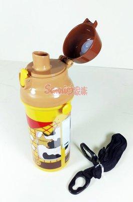《東京家族》迪士尼 玩具總動員 胡迪警長 附背帶 掀蓋式水壺 480ml保冷保溫杯 保溫瓶  日本帶回