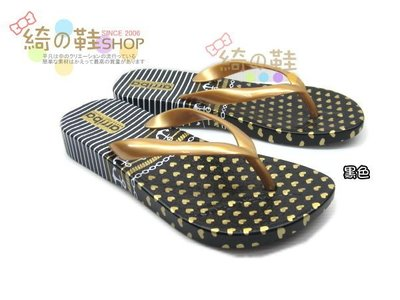 ☆綺的鞋鋪子☆【夾腳海灘拖】61 黑色 442 夾腳鞋 海灘鞋 防水防滑設計 台灣製造 MIT