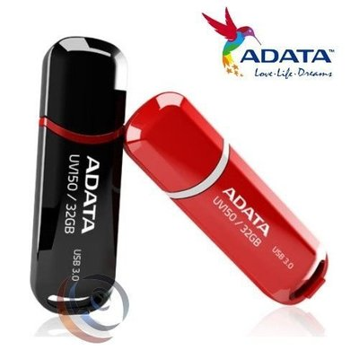 「Sorry」ADATA 威剛 UV150 32G 32GB USB3.1 隨身碟 黑/紅 五年保
