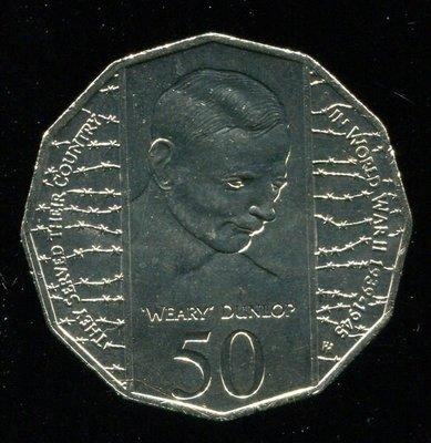 AUSTRALIA(澳大利亞硬幣),50-CENT,K294,1995W eary,品相全新UNC