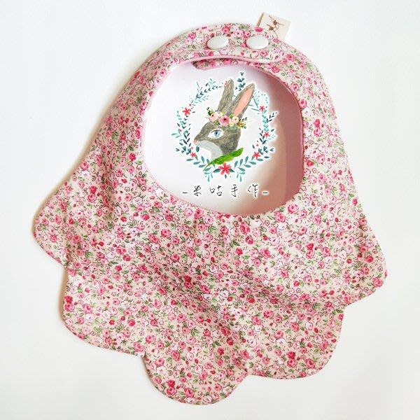 米咕手作 △ 寶寶六重紗 圍兜兜 / 口水巾 / 領巾 |粉粉小碎花|