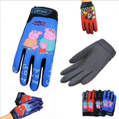 糖衣子輕鬆購【BA0286】兒童卡通防滑加厚加絨手套運動戶外減震速乾手套