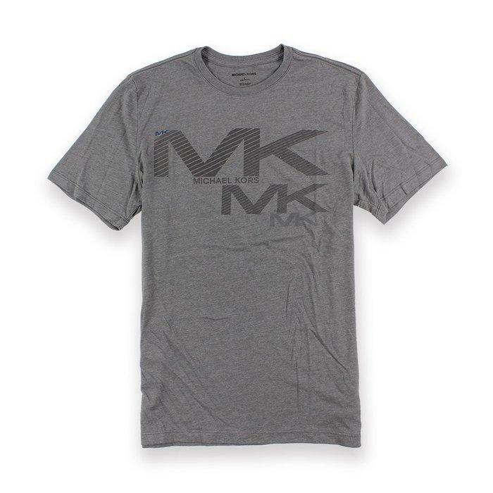 美國百分百【全新真品】Michael Kors 短袖 T恤 MK 上衣 T-shirt 灰色 logo S號 I089
