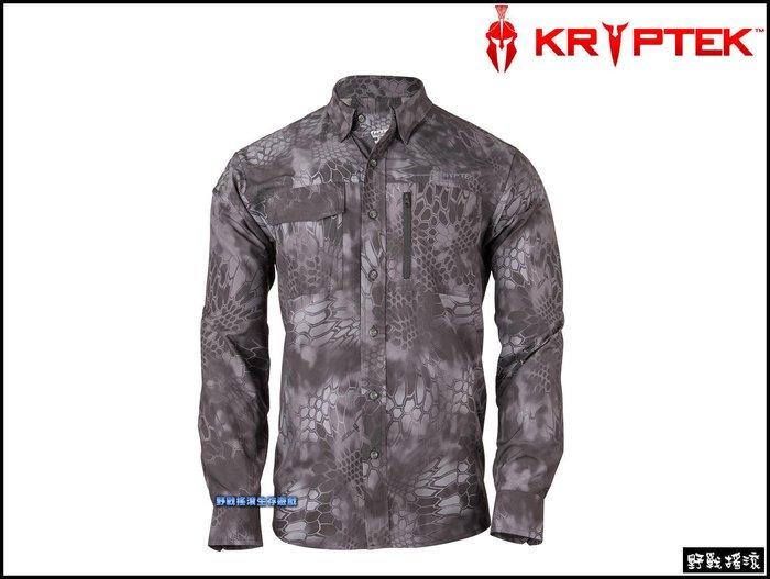 【野戰搖滾-生存遊戲】美國 Kryptek 探險家速乾長袖襯衫【Typhon】 黑色蟒蛇迷彩服排汗衫工作服戰術長袖上衣
