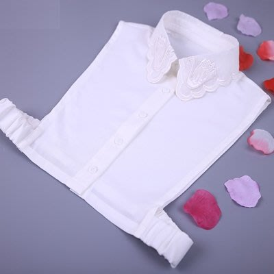假領子 襯衫 領片-天鵝刺繡白色雪紡女裝配件73va20[獨家進口][米蘭精品]