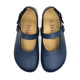 【ZULIBA時尚風格】女足跡半包素色娃娃涼鞋(36~39)-藍