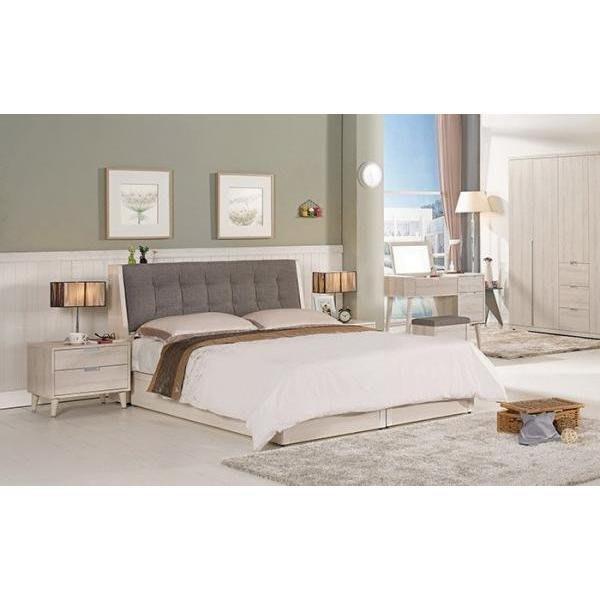 【DH】商品貨號G51-2商品名稱《立沙》5尺雙人床架(圖一)含床底。不含床頭櫃。備有6尺另計。主要地區免運費