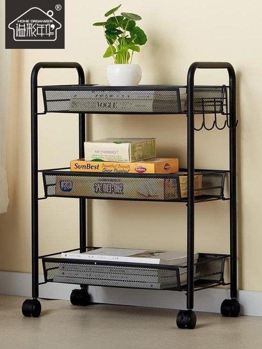 溢彩年華可移動臥室床頭置物架廚房小推車帶輪子浴室收納層架儲物
