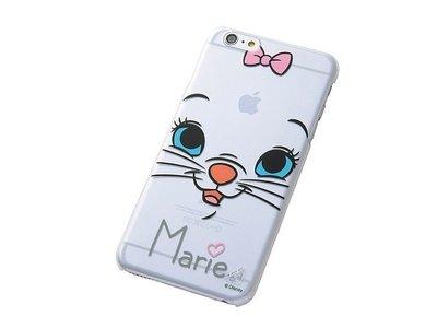 尼德斯Nydus~* 日本 迪士尼 瑪莉貓 Marie 硬殼 手機殼 透明 大臉款 5.5吋 iPhone6+