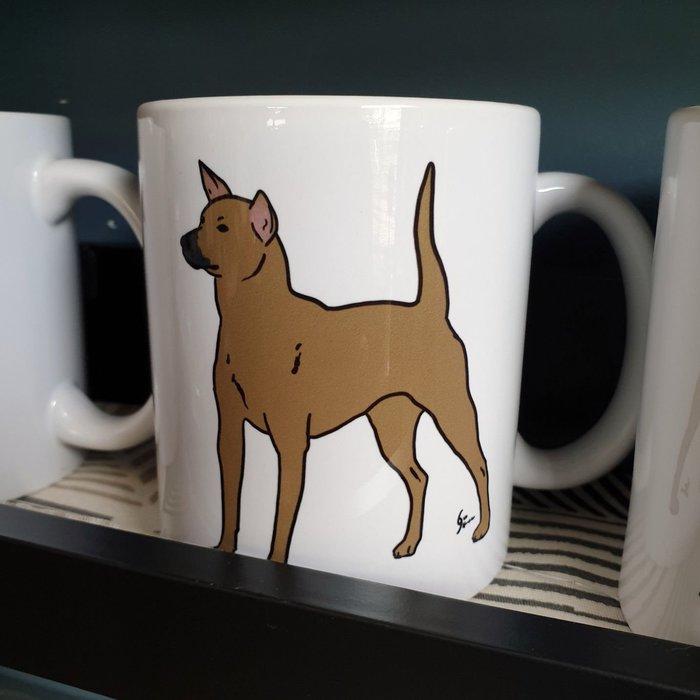 郭公館工作室原創台灣犬米克斯陶瓷馬克杯