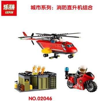 [環球]樂拼02046或博樂10829消防直升機城市系列相容LEGO非樂高60108