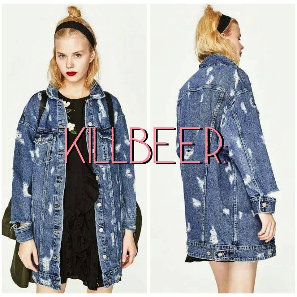 KillBeer:搖滾與日常的必要之惡之 歐美復古70s水洗做舊磨破長版丹寧牛仔外套topshop zara asos
