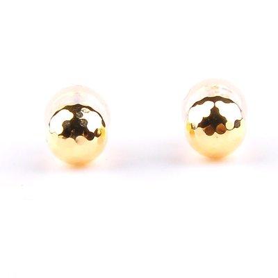 【JHT 金宏總珠寶/GIA鑽石專賣】K金圓珠耳環/材質:750(JB47-B01)