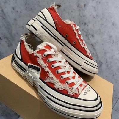 專櫃正品xVESSEL 吳建豪 成都限定 G.O.P. Lows red 辣椒紅 解構鞋 帆布鞋
