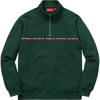 (TORRENT) 2016 秋冬 Supreme World Famous Half Zip Sweat 衛衣 黑.綠