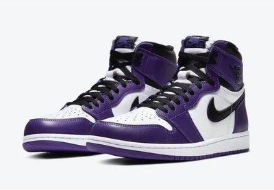 大腳專區 Nike Air Jordan 1 High OG  Court Purple 白紫 555088-500 us 8 - 12