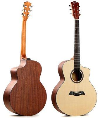 Deviser LS-120N-40 雲杉木合板 木吉他 JF桶身 缺角 民謠吉他 社團團購 團購琴 吉他 初學 入門