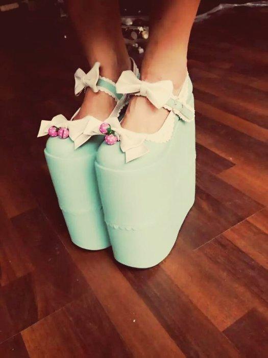 秀場專用  娃娃鞋 超高厚底 cosplay鞋 大碼鞋 夸張45碼 44碼 46碼 47碼貨號281712