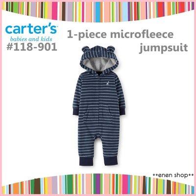 Enen Shöp @Carter's 藍色長頸鹿款保暖連身衣 #118-901 ∥ 9M   **零碼出清**