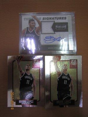 網拍讀賣~Brook Lopez~籃網隊球星~羅培茲~限量球衣簽名卡/99~auto~亮卡~普特卡~共3張~500元~