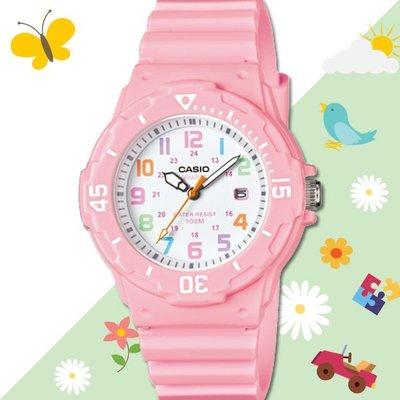 CASIO 手錶專賣店 LRW-200H-4B2 女錶 兒童錶 防水100米 日期 可旋轉錶圈 膠質錶帶