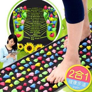 哪裡買⊙居家仿鵝卵石路健康步道C174-002 (腳底按摩墊按摩步道.腳踏墊足底足部按摩腳墊.踩踏運動健康之路推薦專賣店