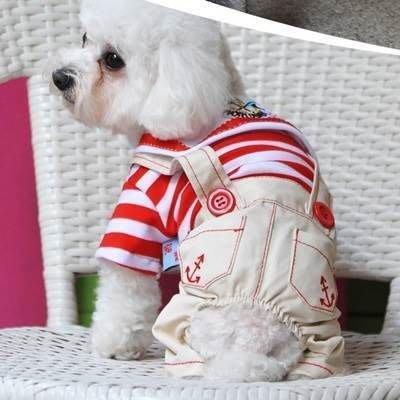 寵物衣 海軍狗狗衣服-帥氣可愛條紋水手服寵物用品2色73ih8[獨家進口][米蘭精品]
