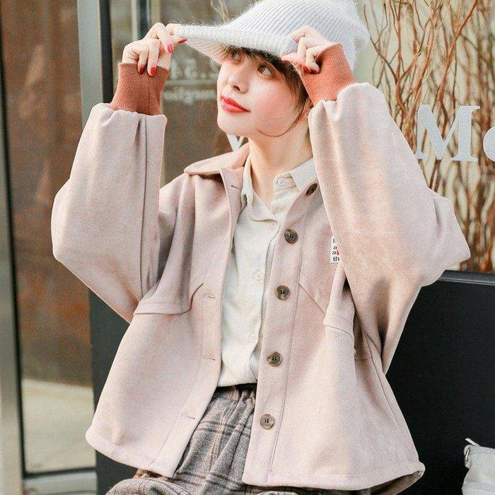 日和生活館 夾克女裝7-11全家正韓國版新款2019新款韓版學生bf學院風寬松短款外套女長袖夾克棒球服上衣春季19329 S988