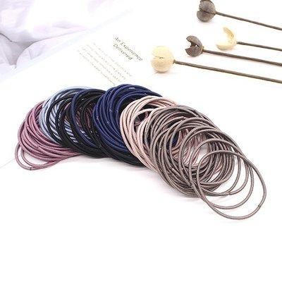 ☜shop go☞ 髮束 素色 髮飾 彈性髮圈 橡皮筋 飾品 手繩 髮帶 素色 女孩 細條髮圈(1入)【F023】